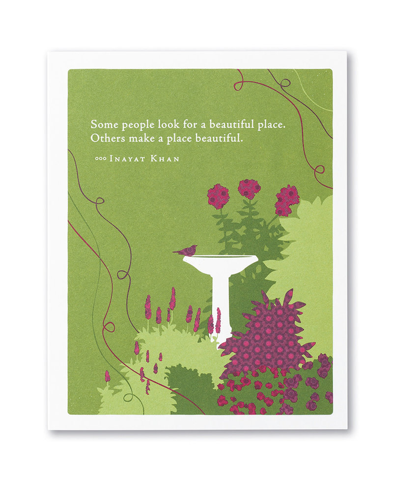 Compendium Compendium Thank You Card | 'Some People Look For A Beautiful Place'