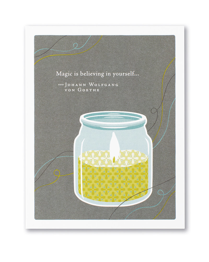 Compendium Compendium Encouragement Card | 'Magic is Believing'