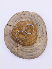 Must Have Shiny Open Circle Earrings - Medium (2 Colors)
