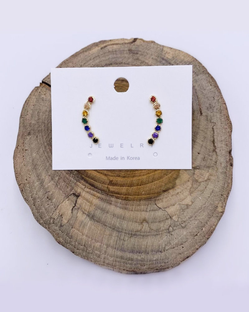 Must Have Must Have Rainbow Climber Earrings