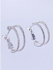 Must Have Bezel Cuff Hoop Earrings (2 Colors)
