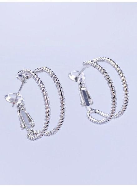 Must Have Bezel Cuff Hoop Earrings (2 Colors)