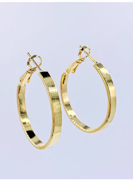 Must Have Solid Flat Hoop Earrings - Small (2 Colors)