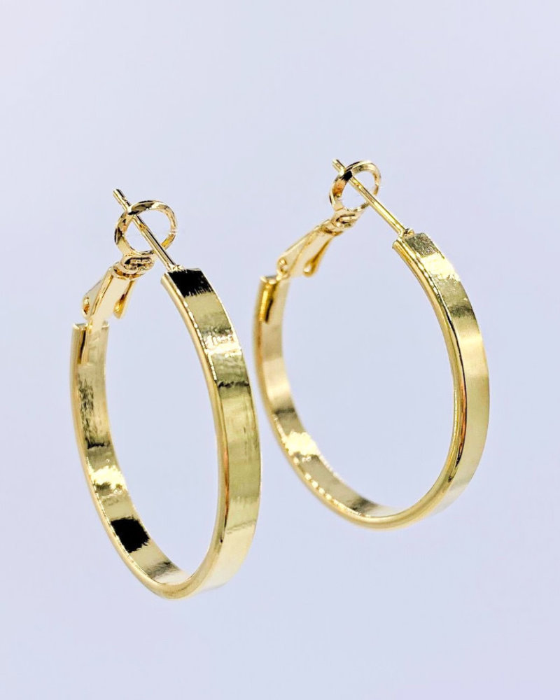 Must Have Must Have Small Solid Flat Hoop Earrings - Small