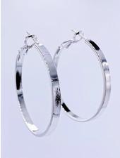 Must Have Solid Flat Hoop Earrings - Medium (2 Colors)