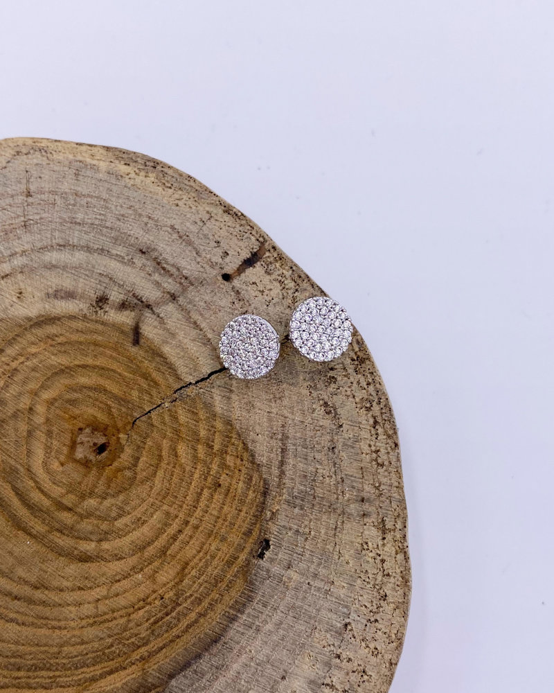 Must Have Must Have Brass Earrings | Mini Pave Disc