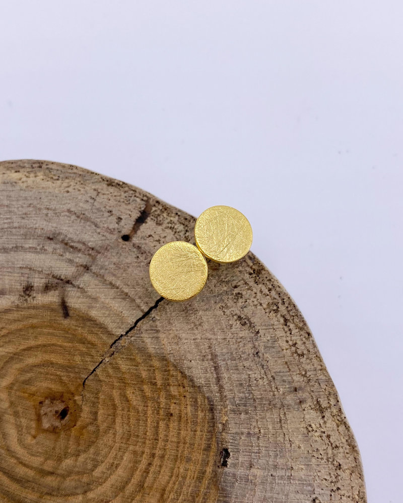 Must Have Must Have Textured Circle Earrings
