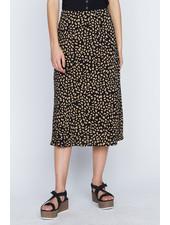 Sanctuary Clothing Black 'Modern Spots' Midi Skirt **FINAL SALE**
