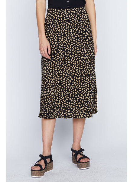 Sanctuary Clothing Black 'Modern Spots' Midi Skirt **FINAL SALE**