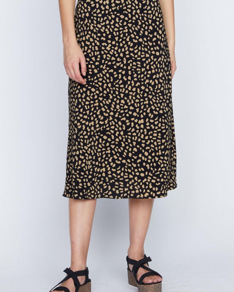 Sanctuary Clothing Sanctuary Black 'Modern Spots' Midi Skirt **FINAL SALE**