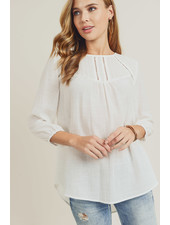 Doe & Rae 'Evenly Yoked' Embroidered Top