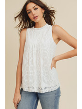 Doe & Rae Ivory 'There's No Lace Like Home' Babydoll Top