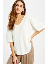 Wishlist Ivory 'Donna' Oversized Thermal Top