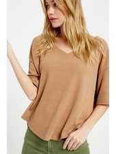 Wishlist Clay 'Donna' Oversized Thermal Top