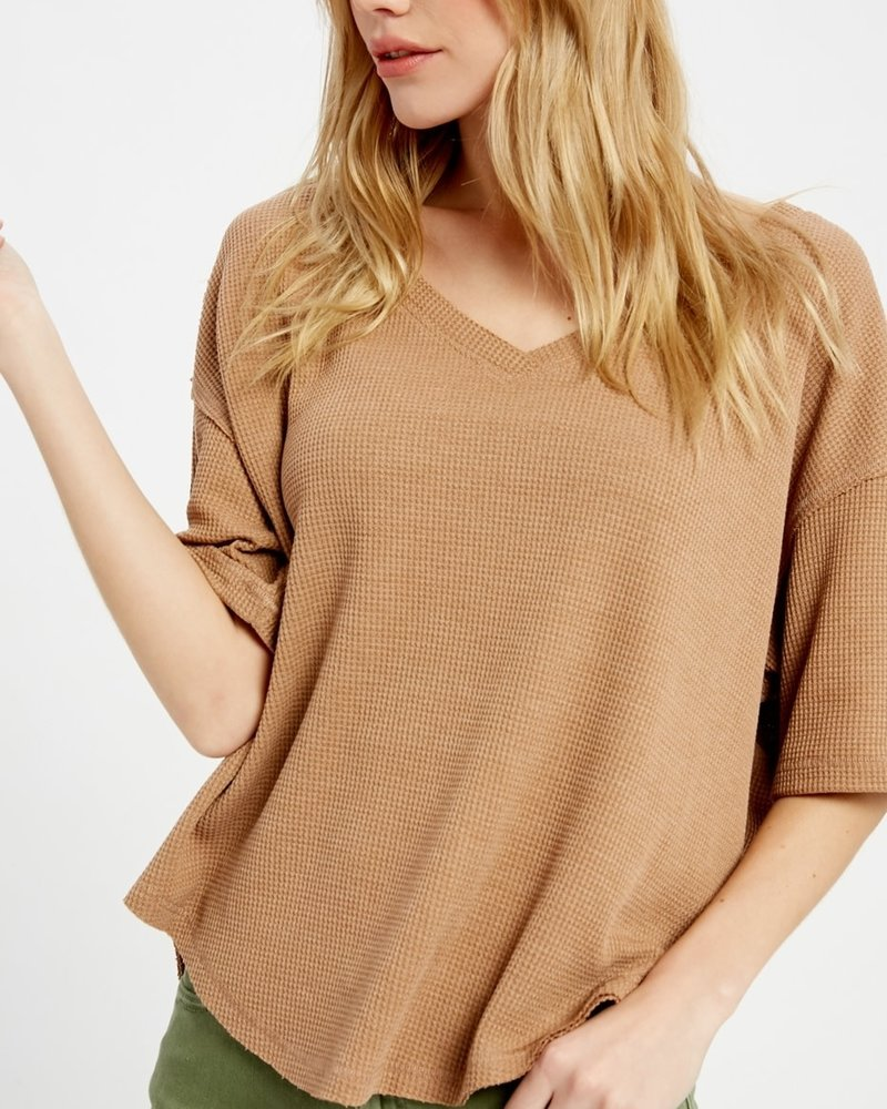 Wishlist Wishlist Clay 'Donna' Oversized Thermal Top