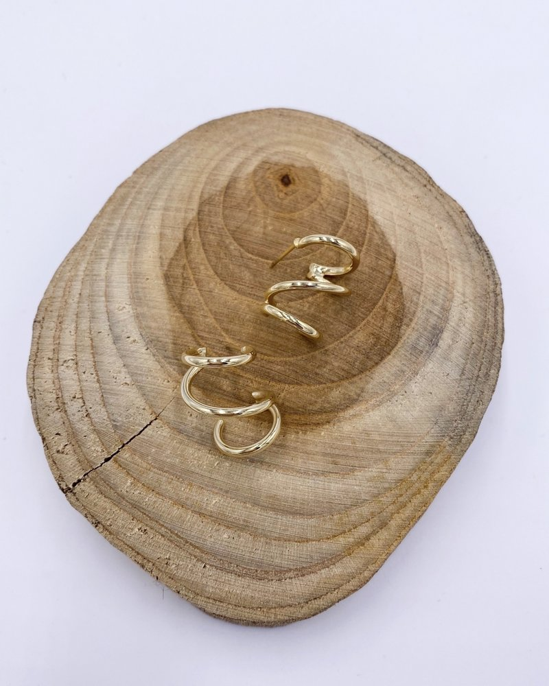 Must Have Must Have Curly Climber Earrings
