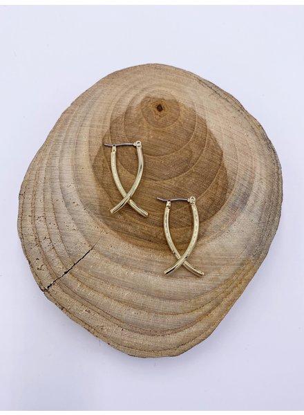 Must Have Fish Hoop Earrings (2 Colors)