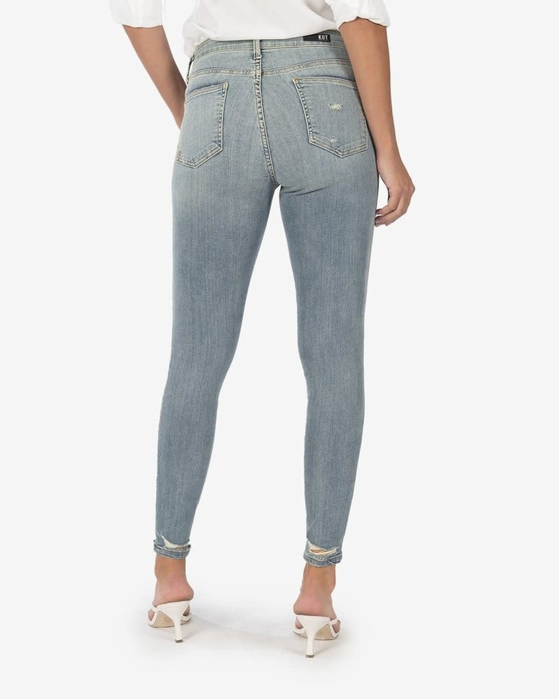 Kut from the Kloth Kut from the Kloth 'Mia' High Rise Skinny Jeans in Enlightened Wash