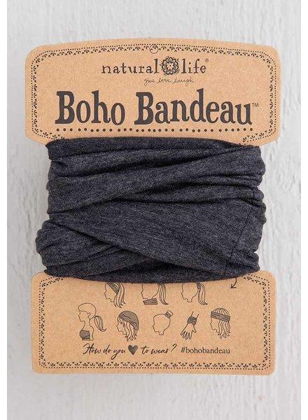 Natural Life Boho Bandeau in Heathered Charcoal
