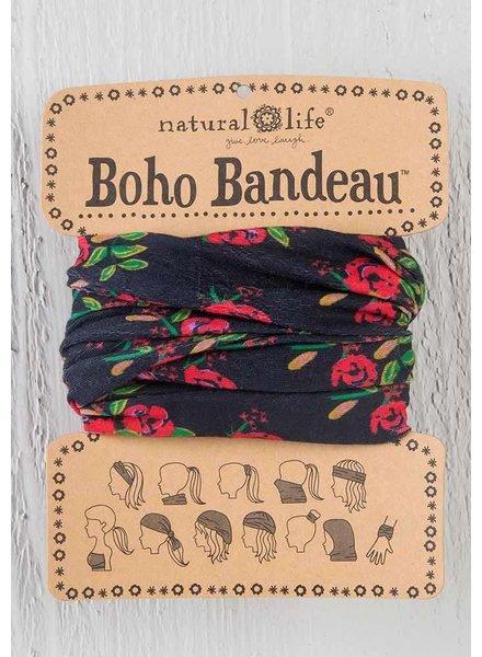 Natural Life Boho Bandeau in Black Blooms