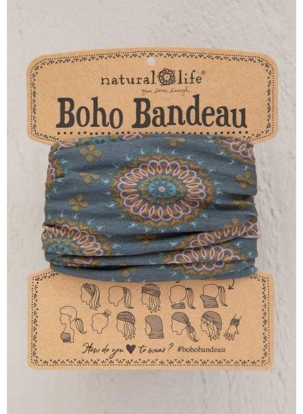 Natural Life Boho Bandeau in Sage Gold Medallion