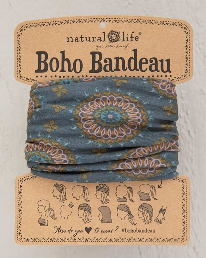 Natural Life Natural Life Boho Bandeau in Sage Gold Medallion