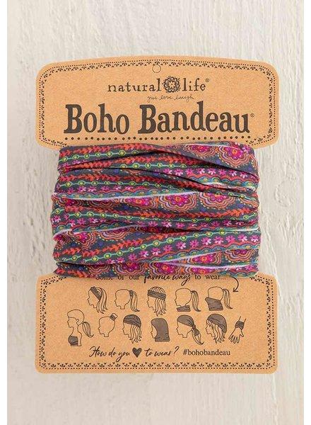 Natural Life Boho Bandeau in Multi Scalloped Rows