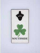 Marshes, Fields & Hills by Rustic Marlin Personalized Shamrock Bottle Opener | Southside