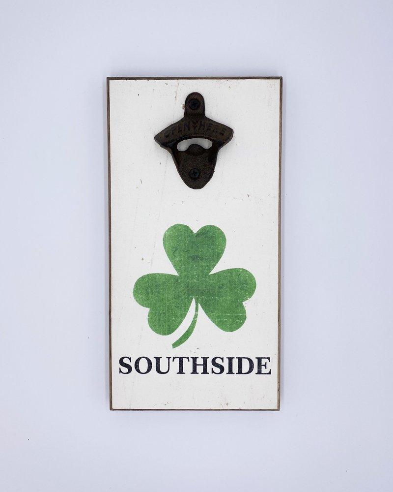 Marshes, Fields & Hills by Rustic Marlin Rustic Marlin Personalized Shamrock Bottle Opener | Southside