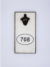 Marshes, Fields & Hills by Rustic Marlin Area Code Personalized Bottle Opener   708
