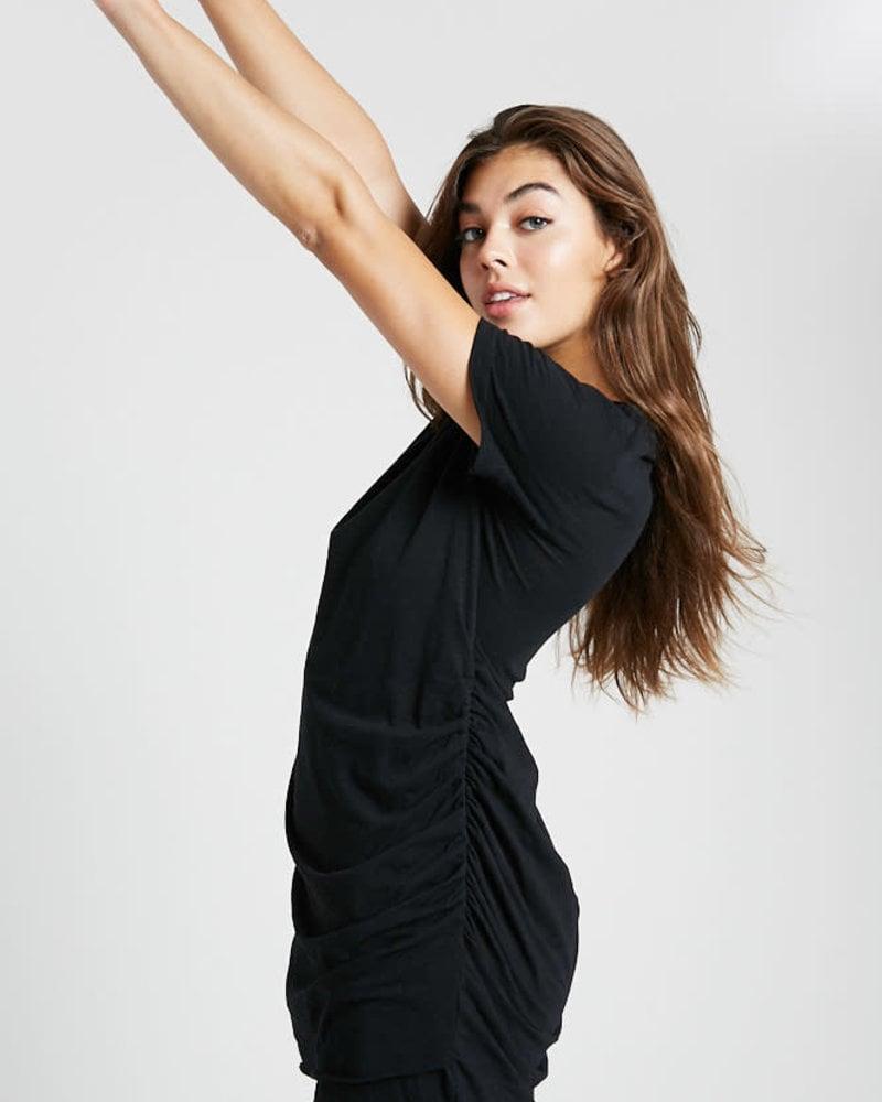 Wishlist Wishlist Black 'It's A Classic' Ruched Mini Dress