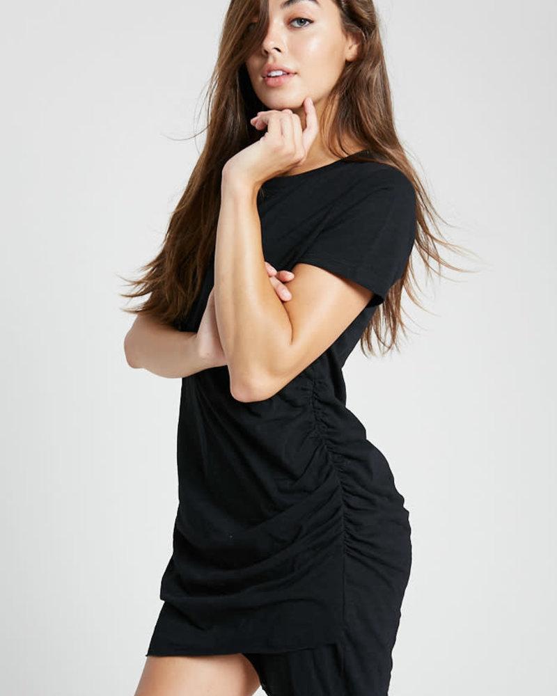 Wishlist Wishlist Black 'It's A Classic' Ruched Mini Dress (Small) **FINAL SALE**