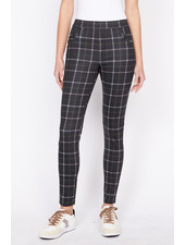 Sanctuary Clothing Grease Legging in Morning Pink Plaid