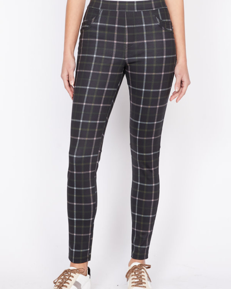 Sanctuary Clothing Sanctuary Clothing Grease Legging in Morning Pink Plaid