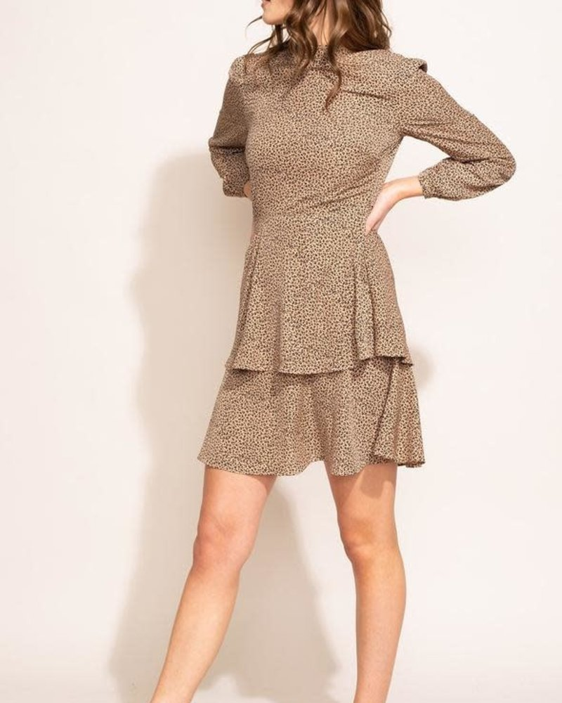 Pink Martini Collection Pink Martini Beige 'Pietra' Layered Dress