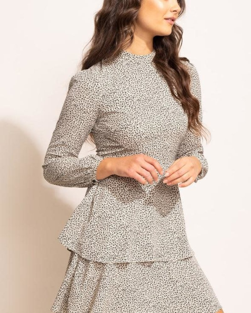 Pink Martini Collection Pink Martini Off-White 'Pietra' Layered Dress