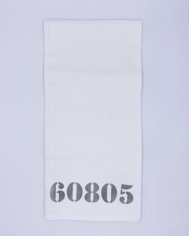 Rustic Marlin Marshes Fields & Hills Personalized Zip Code Tea Towel | 60805