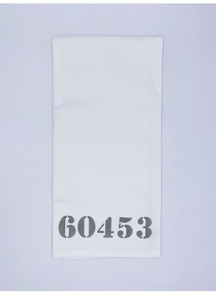 Rustic Marlin Personalized Zip Code Tea Towel | 60453