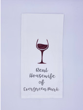 Rustic Marlin Personalized Real Housewife Tea Towel | Evergreen Park