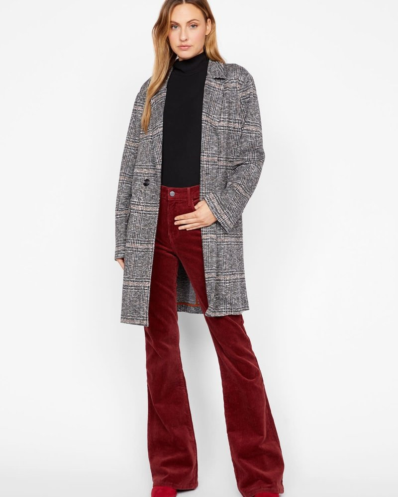 Sanctuary Clothing Sanctuary Clothing 'Carlyle' Abstract Plaid Long Blazer