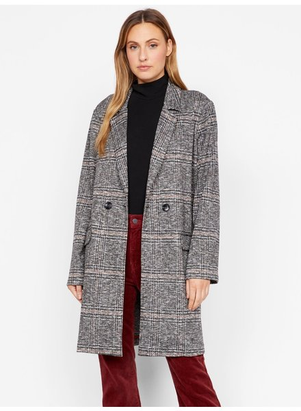 Sanctuary Clothing 'Carlyle' Abstract Plaid Long Blazer