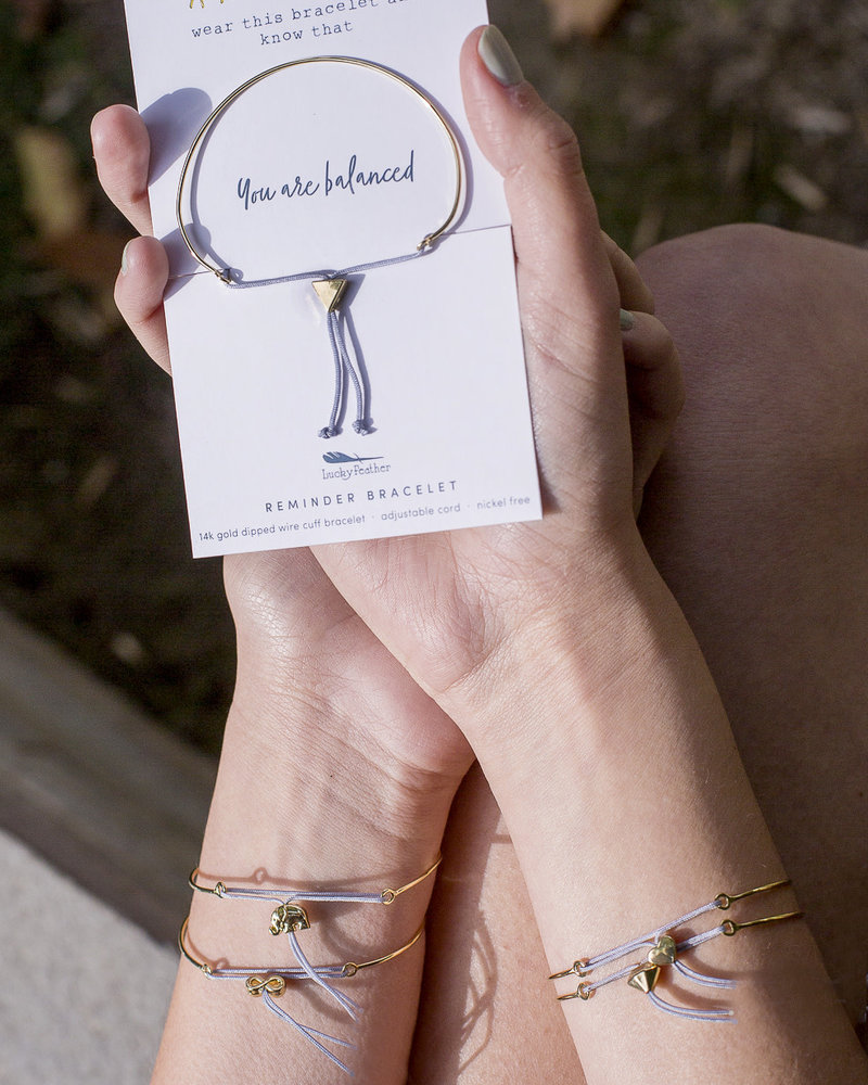 Lucky Feather Lucky Feather Reminder Bracelet | You Are Balanced