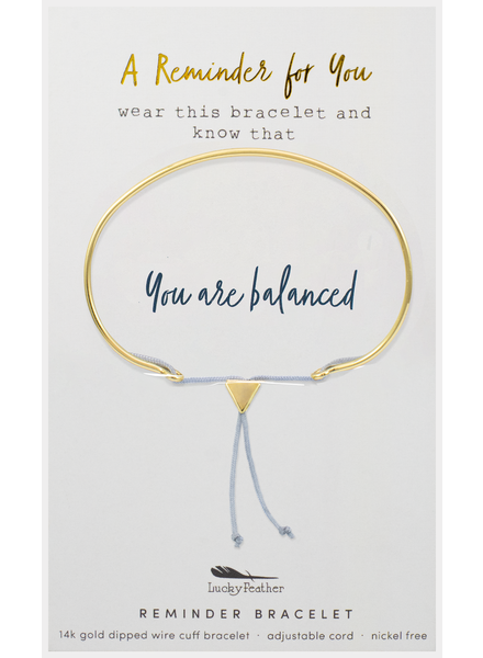 Lucky Feather Reminder Bracelet | You Are Balanced