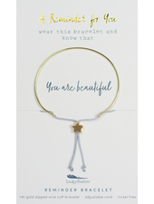 Lucky Feather Reminder Bracelet | You Are Beautiful