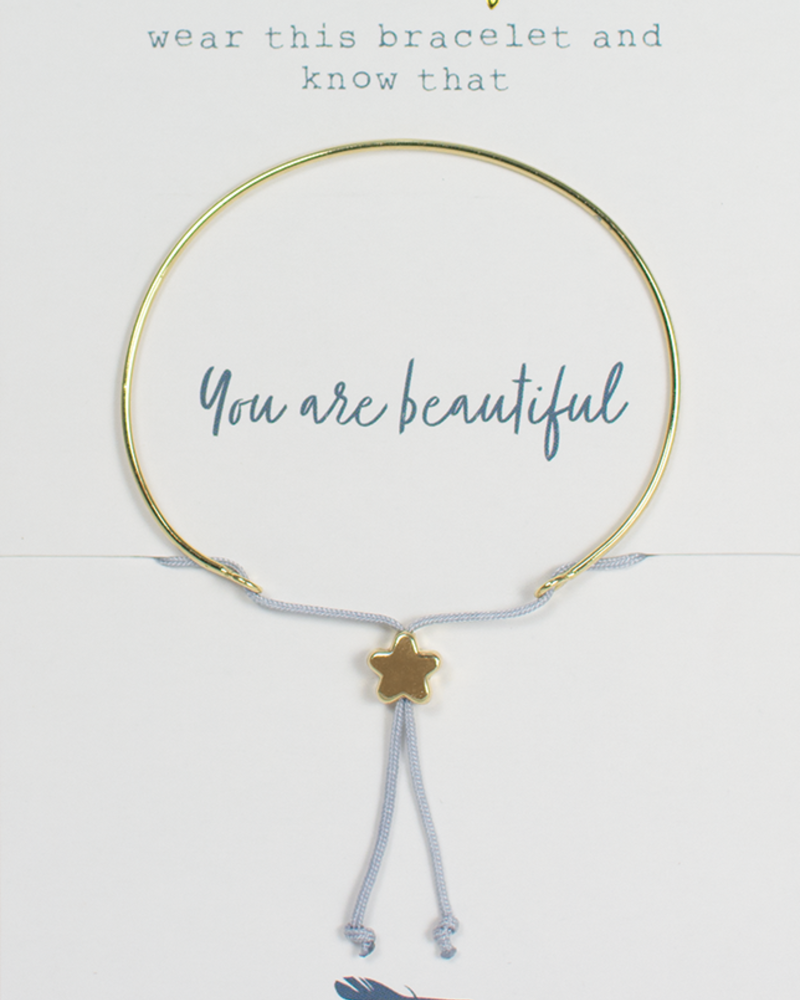 Lucky Feather Lucky Feather Reminder Bracelet   You Are Beautiful