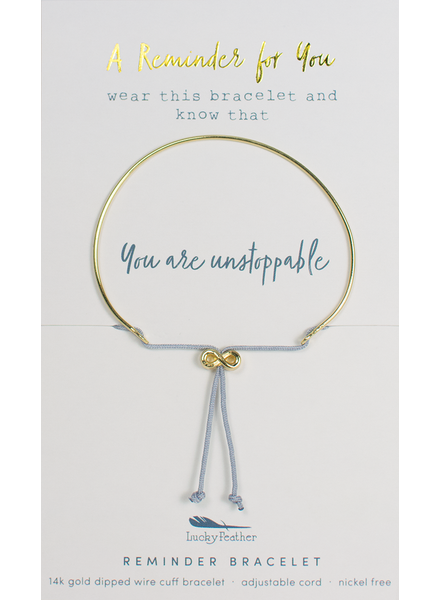 Lucky Feather Reminder Bracelet | You Are Unstoppable