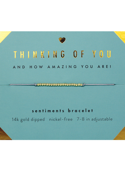 Lucky Feather Sentiments Bracelet | Thinking Of You