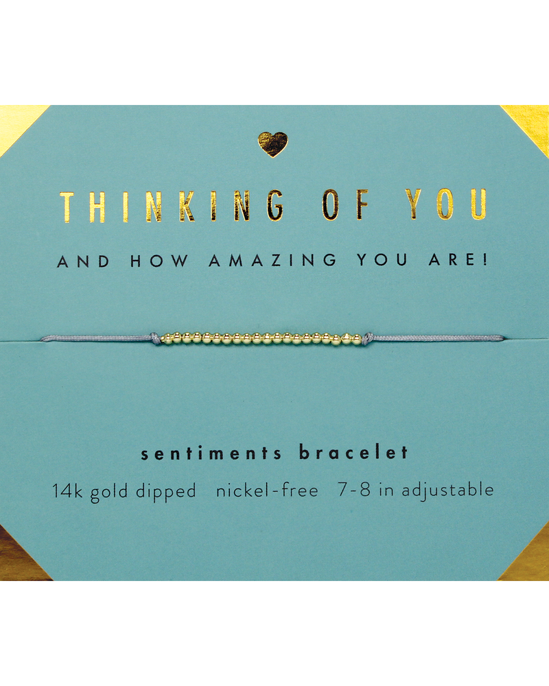 Lucky Feather Lucky Feather Sentiments Bracelet | Thinking Of You