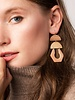 Scout Curated Wears Scout Labradorite & Gold Stone Cutout Earrings