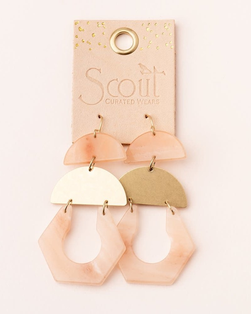 Scout Curated Wears Scout Sunstone & Gold  Stone Cutout Earrings